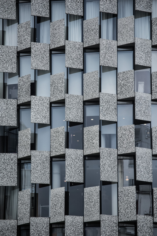 gray and black architectural design