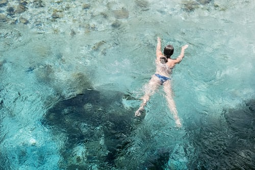 Crystal clear waters in Borsh beach