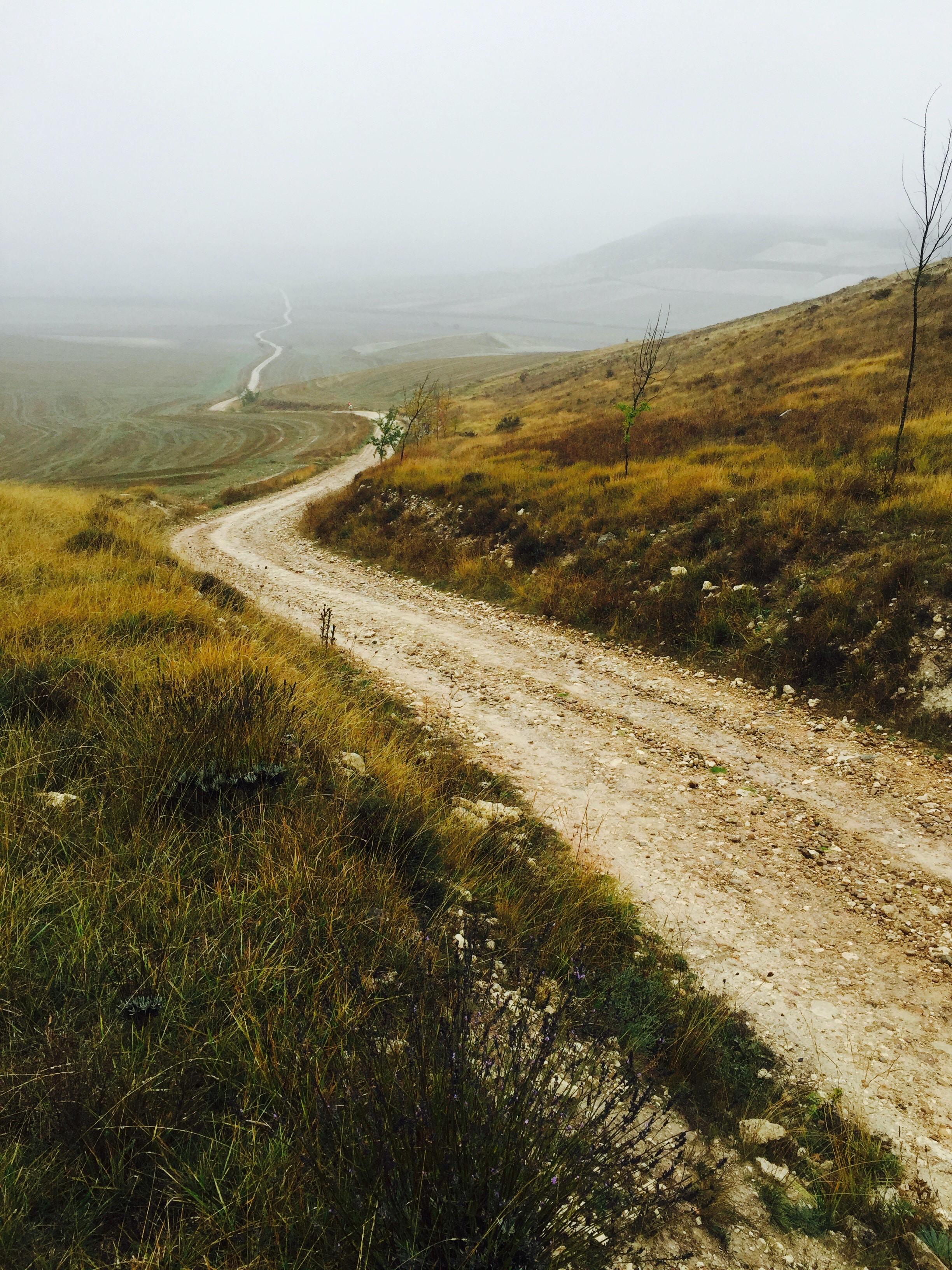 pathway along mountain