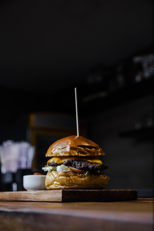 serving of slider burger