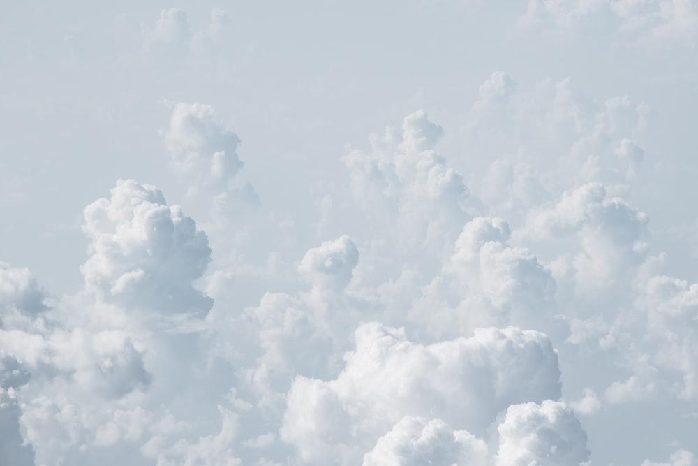 white cloudy sky