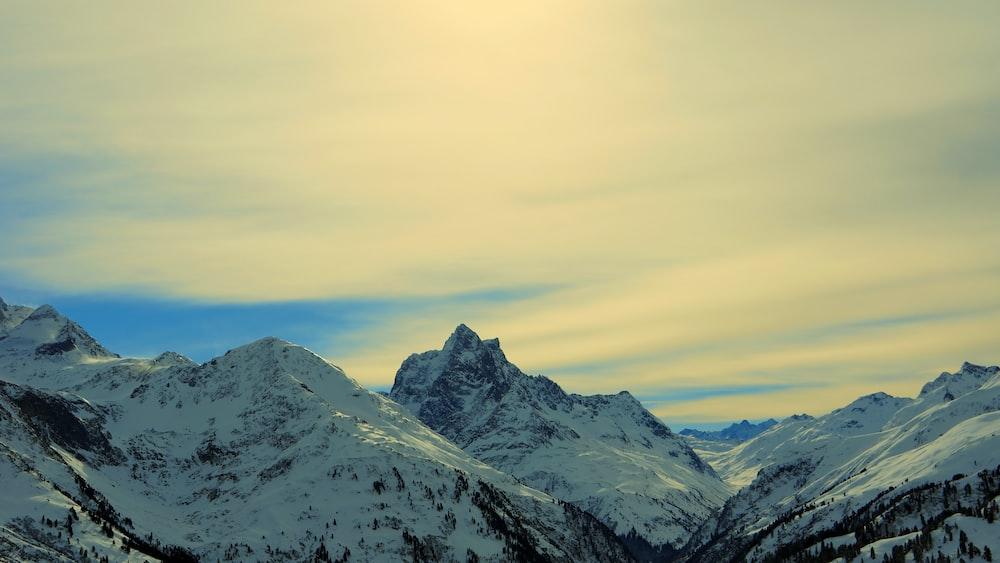 snowcaps mountain
