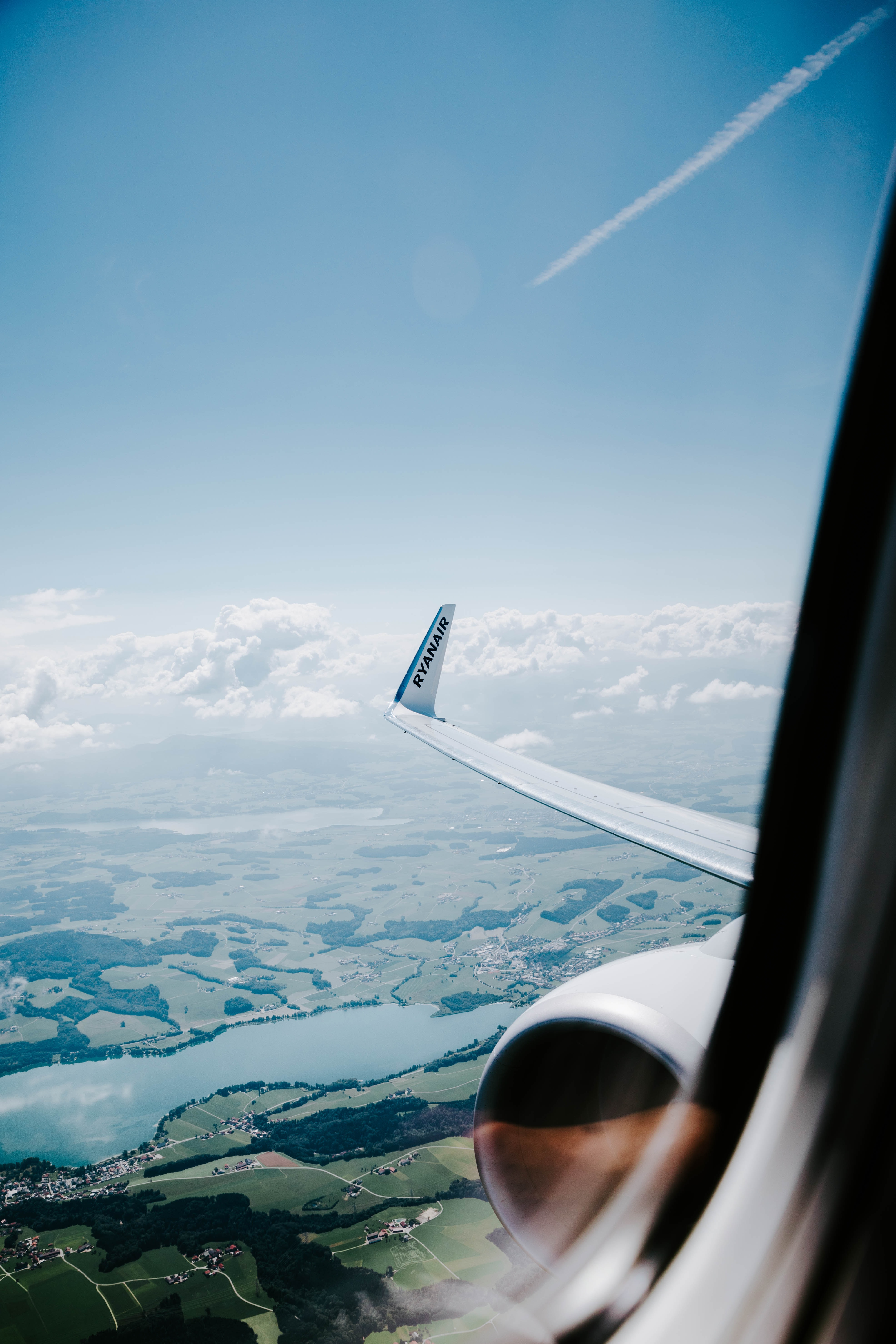 window view of airplane