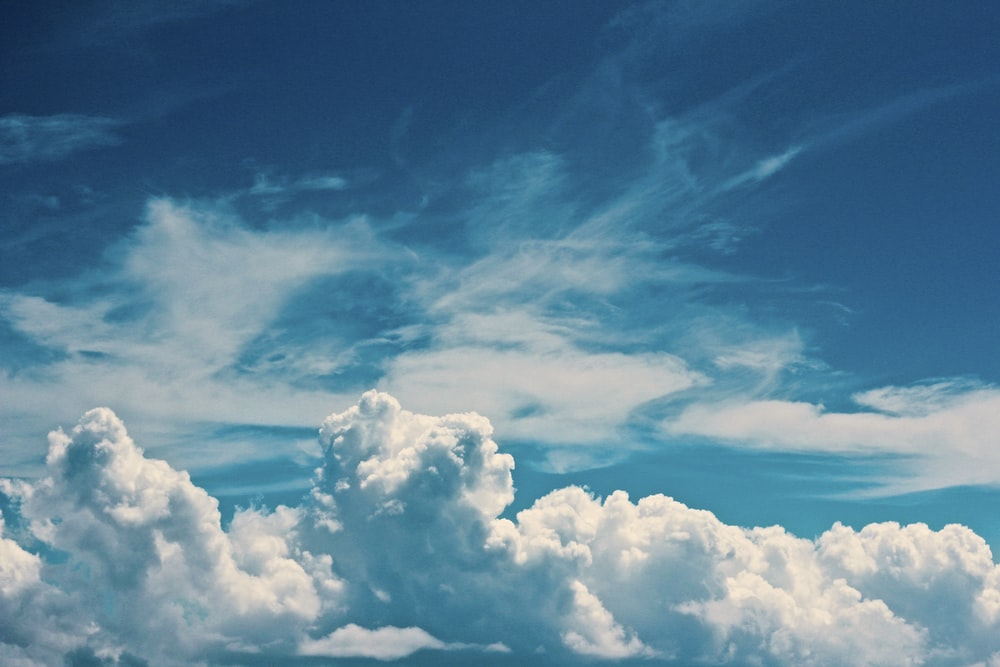white clouds under blue sky at daytime