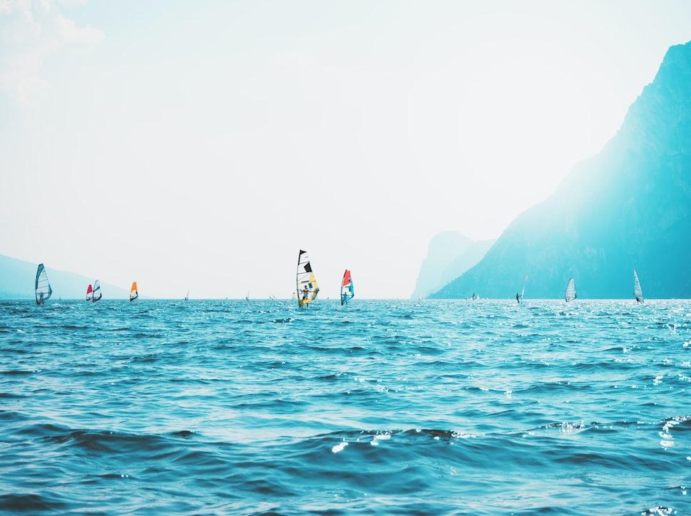 Impressie windsurfen