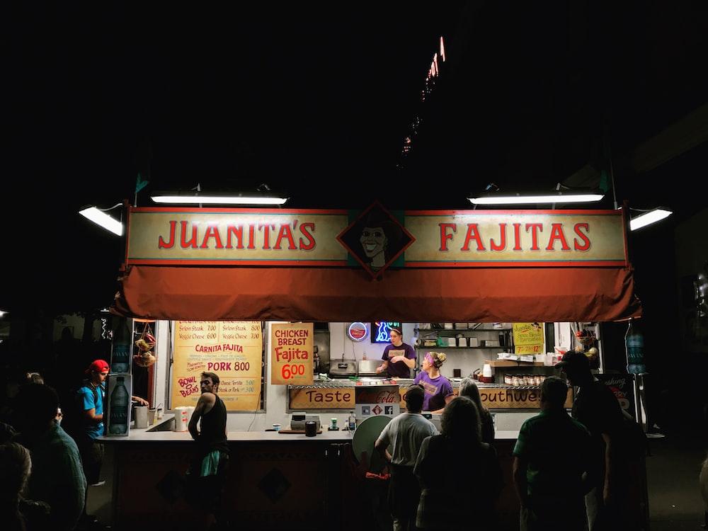 Juanitas Fajitas store during night time
