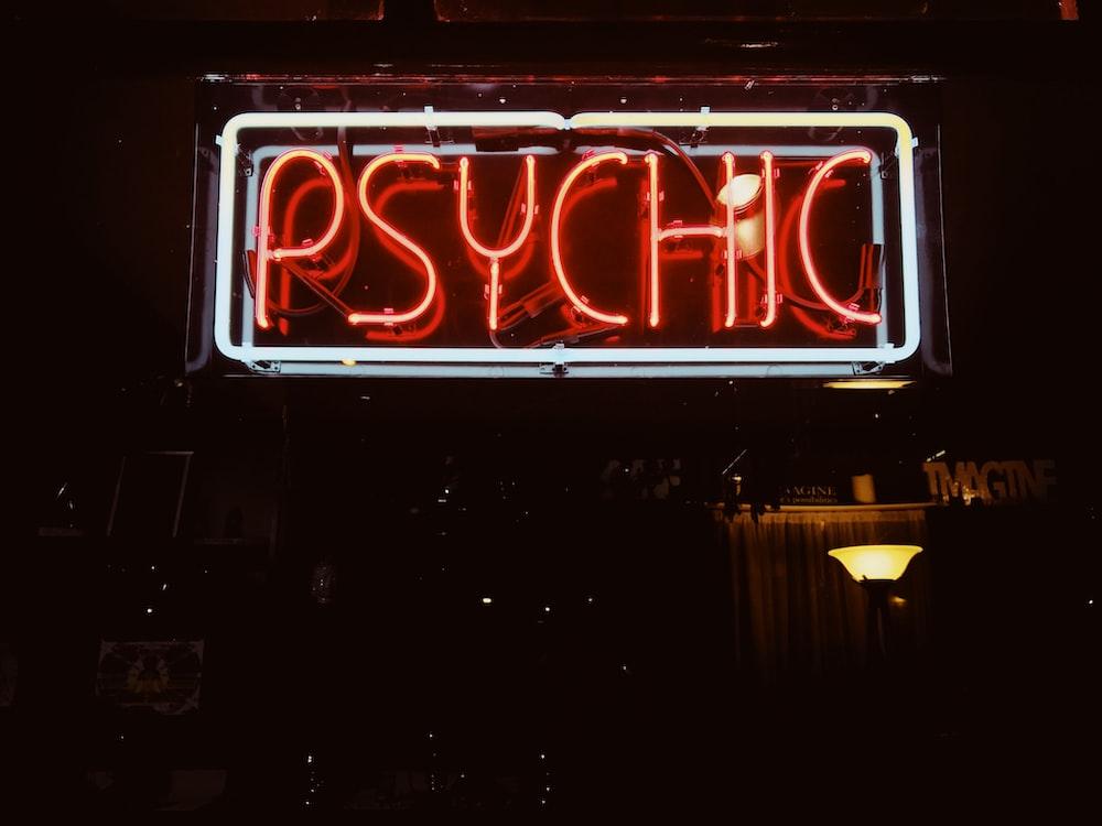 red Psychic LED signage