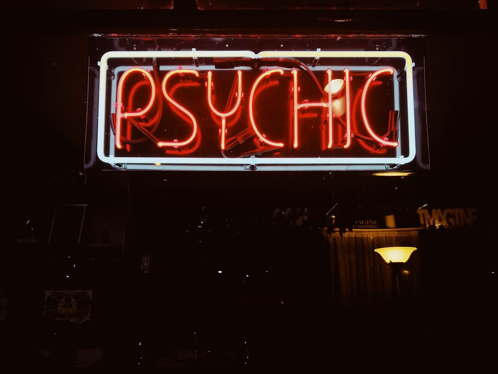 red Psychic LED signage