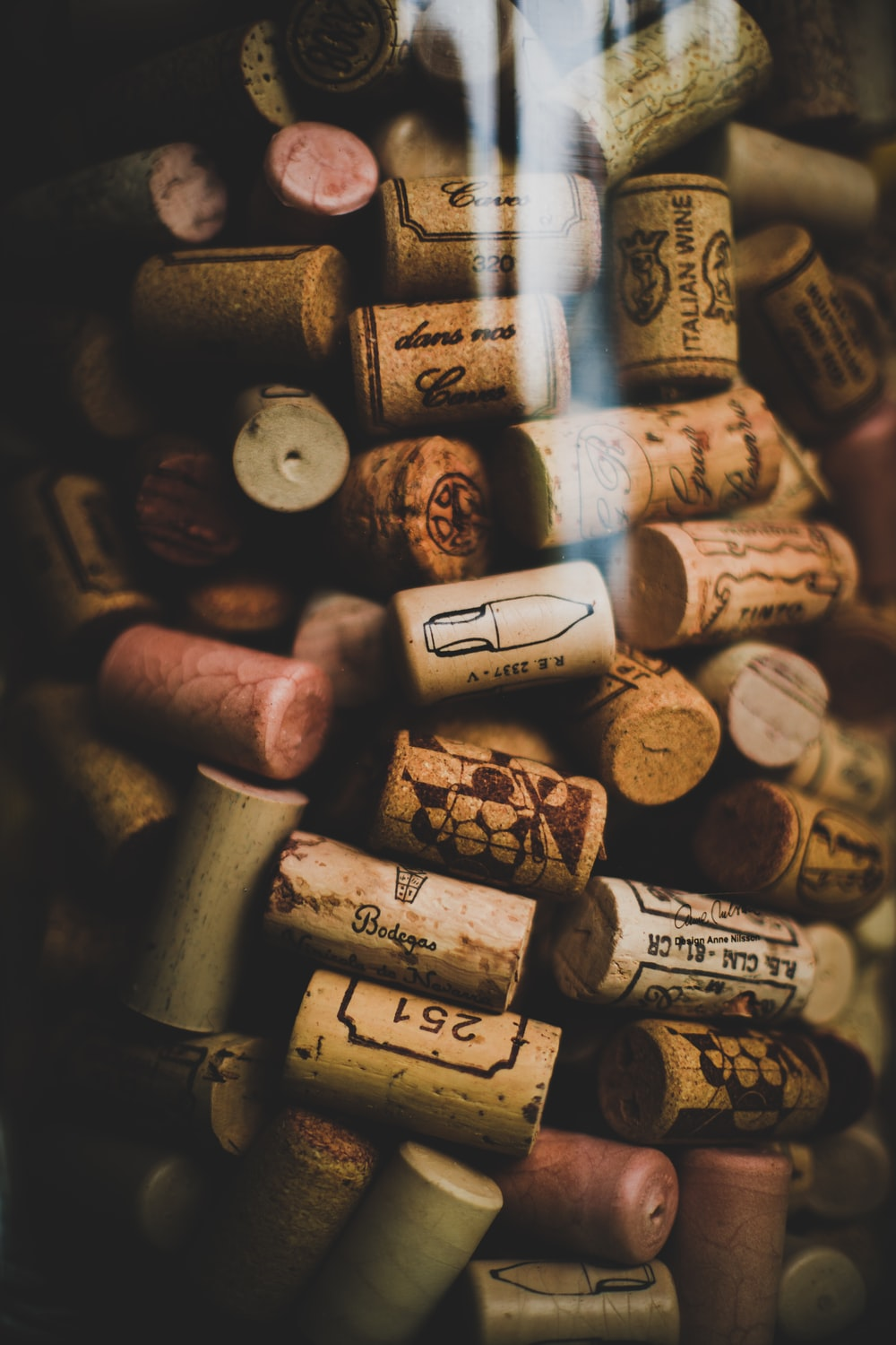 wine cork lot