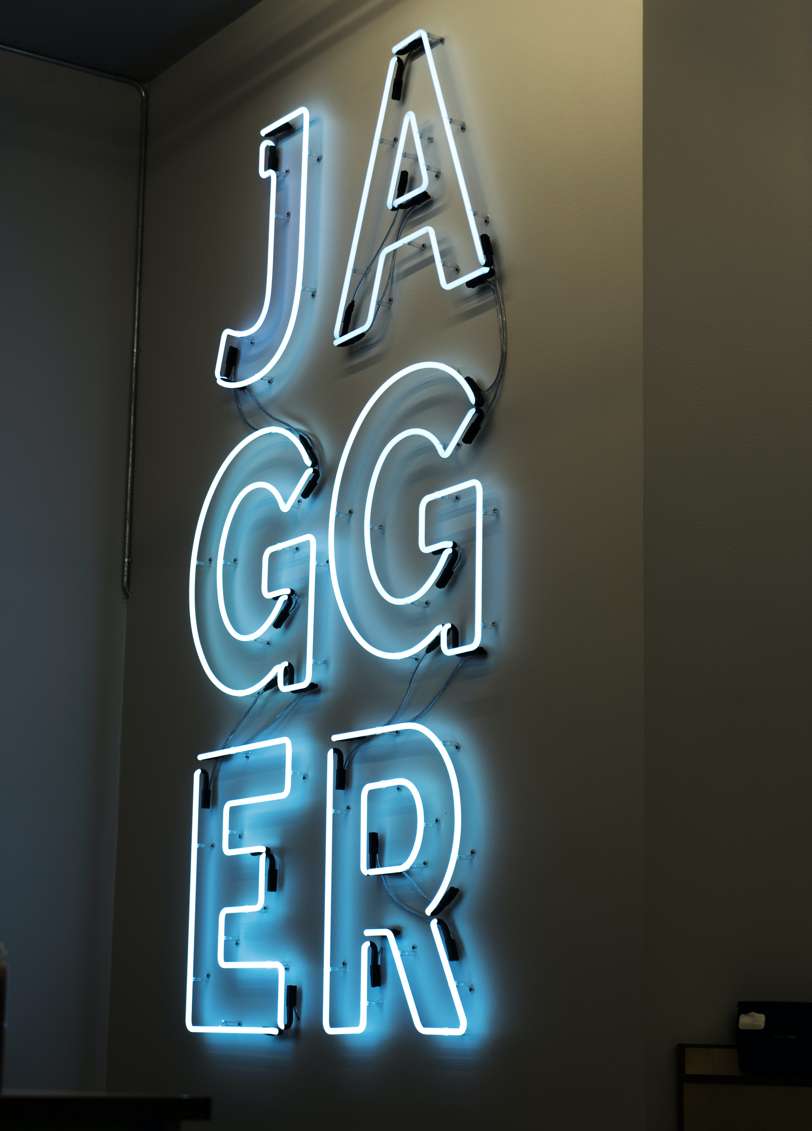 Jagger neon light signage