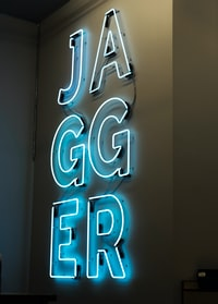 Jagger neon light signage
