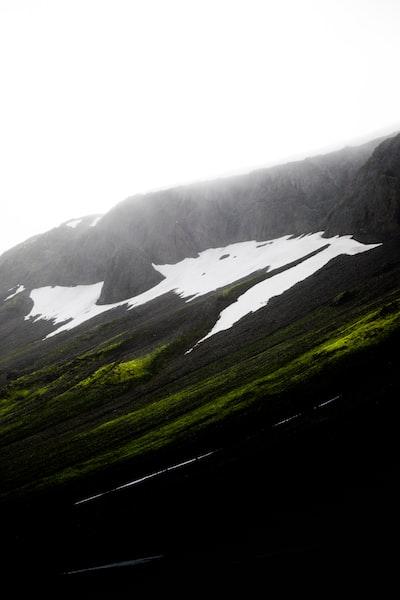 high-angle photography of mountain
