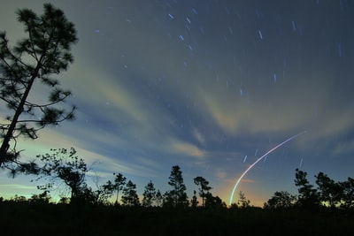 Even though it was cloudy,  I decided to give it a try.  Launch was delayed a bit due to lightning in the area.  The picture was taken a my campsite at River Ranch Fl.  Figured a long exposure to add some star trails.