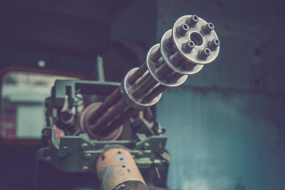 gray machine gun