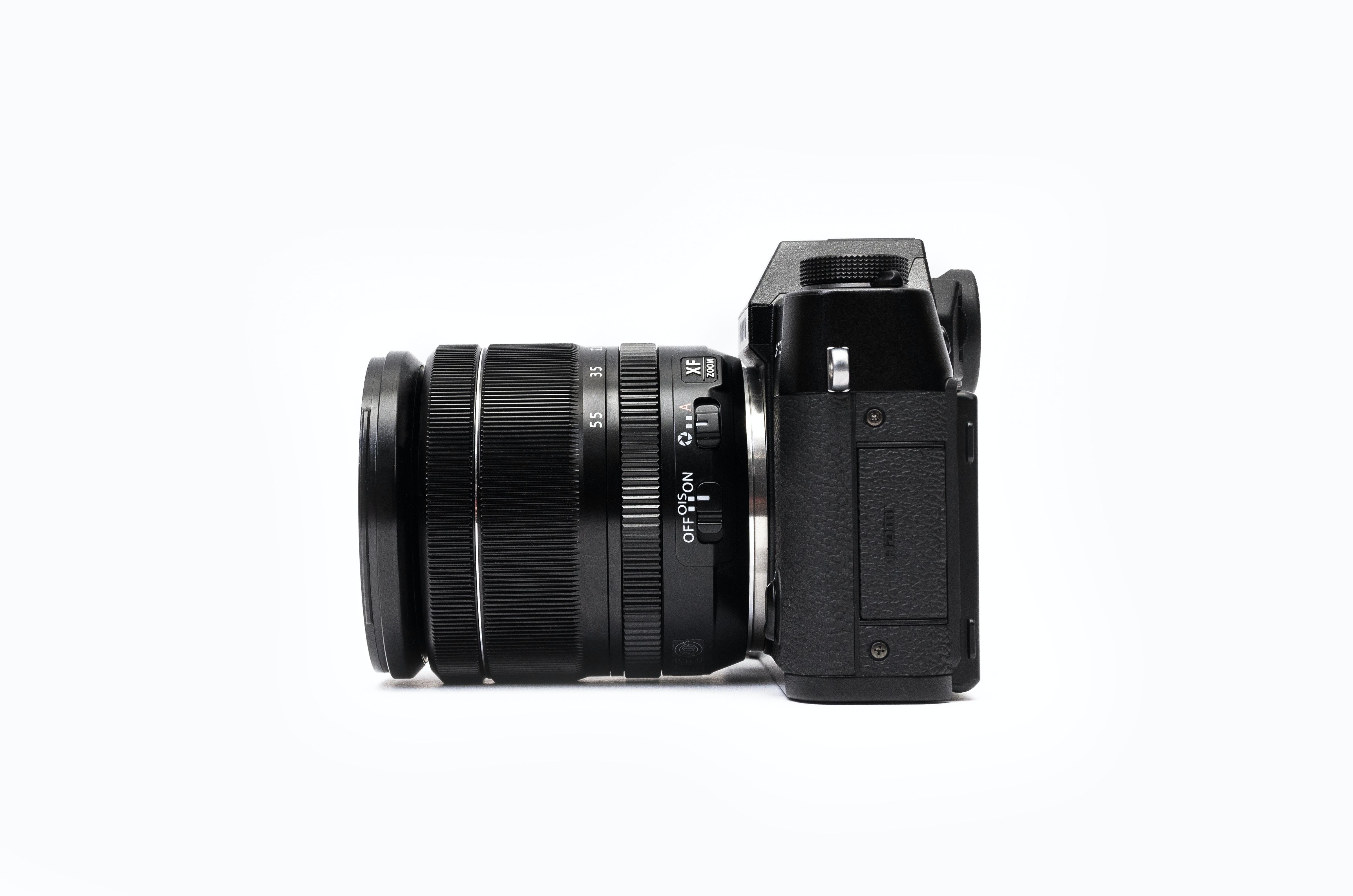 black camera vector art