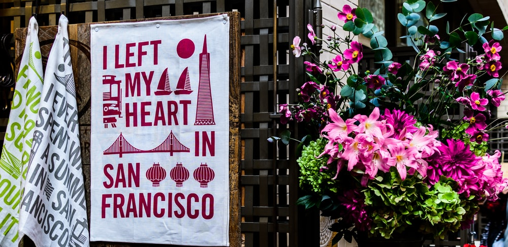 I left my heart in San Francisco banner