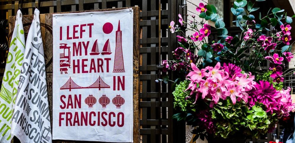 I left my heart in San Francisco banner