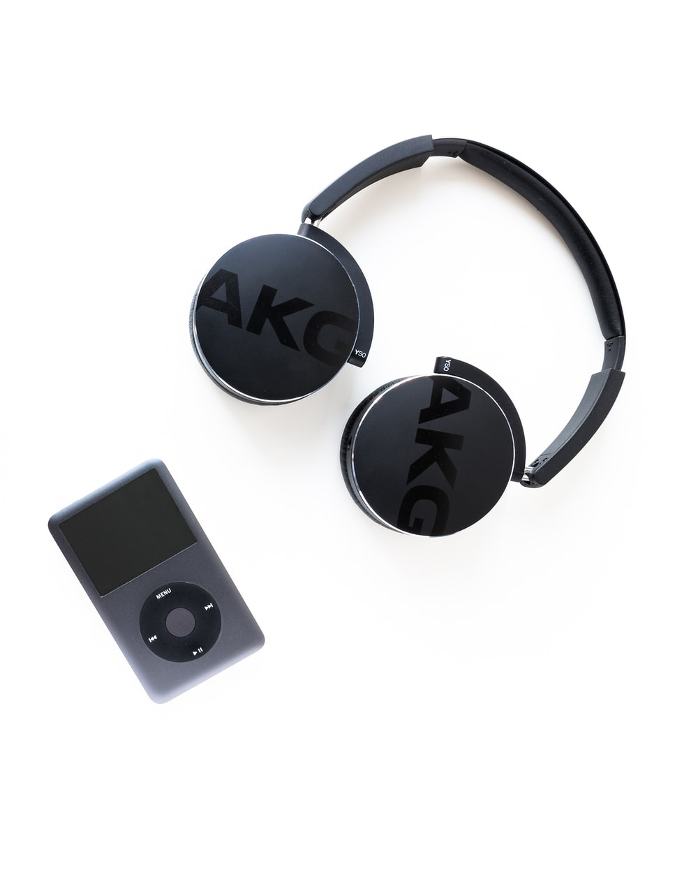 black AKG wireless headphones