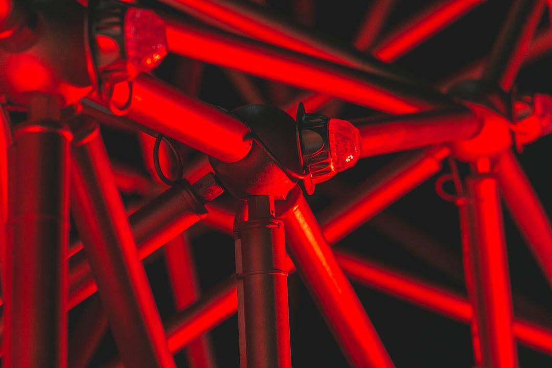 Red light scene around the new park called ECO Park.
