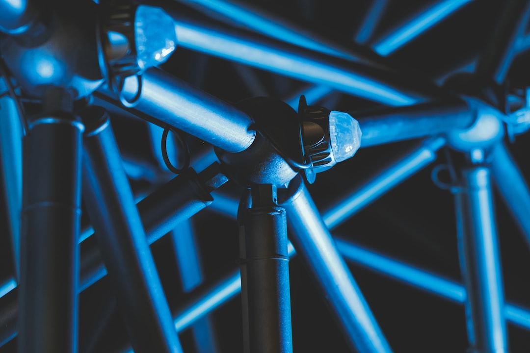 Blue lights around the park called ECO Park.