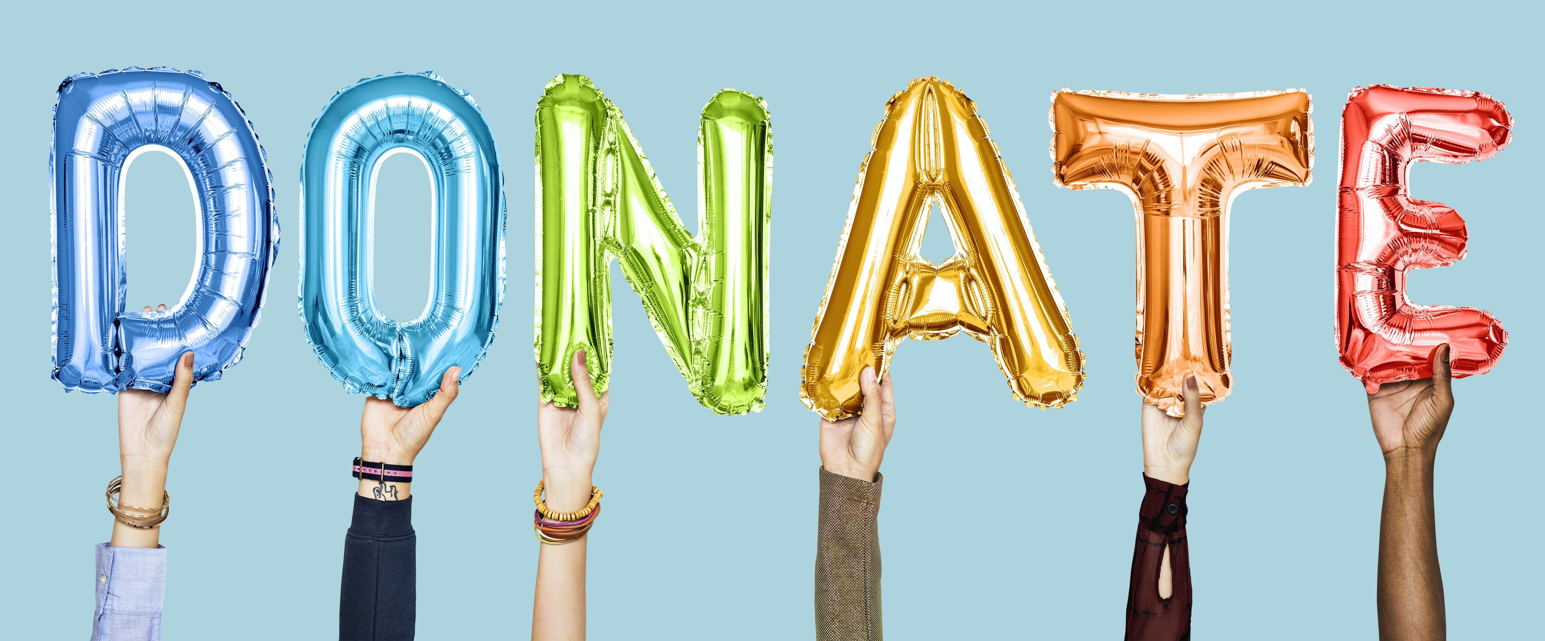 Donate mylar balloon decors