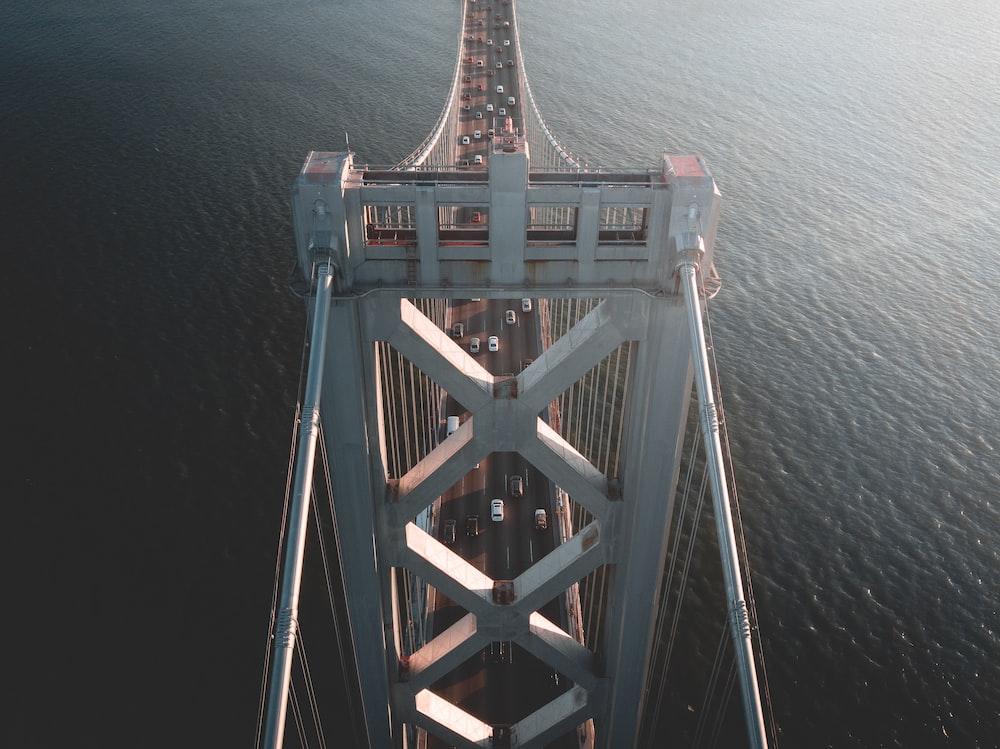 top view of white bridge