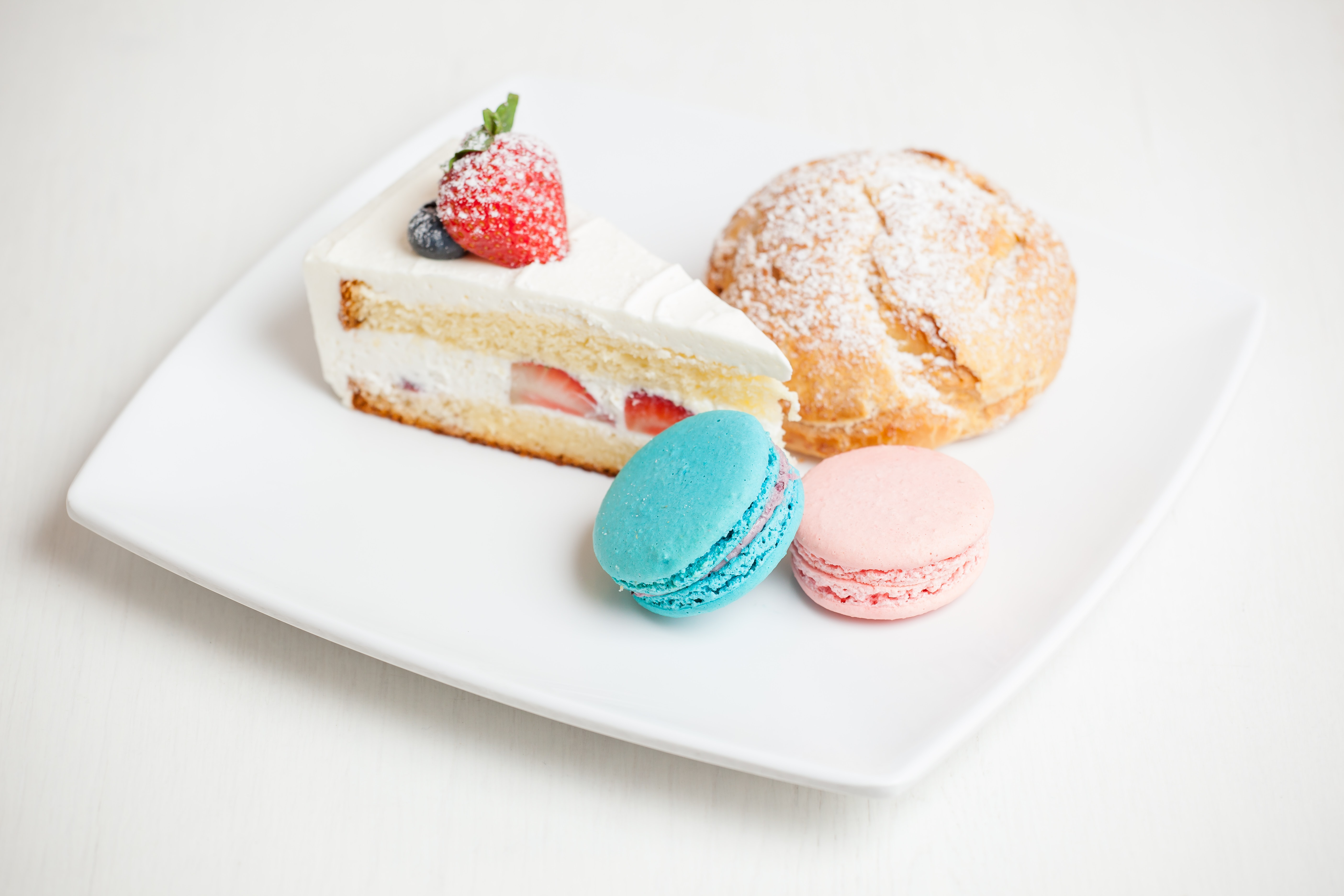 assorted pastries on white ceramic plate
