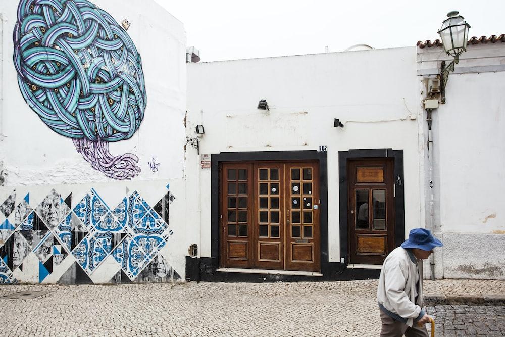 blue wall graffiti