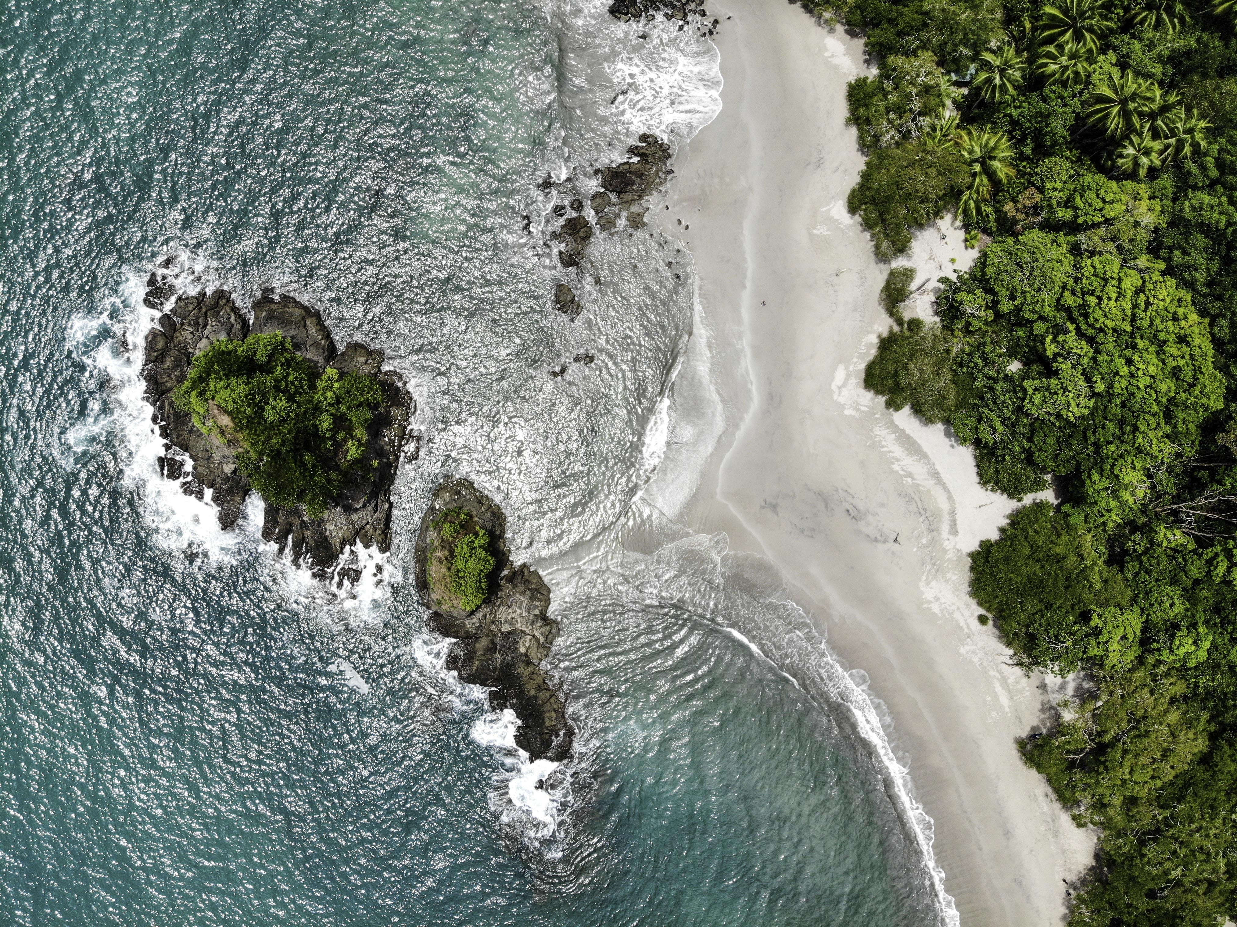 bird'-eye view photography of seashore