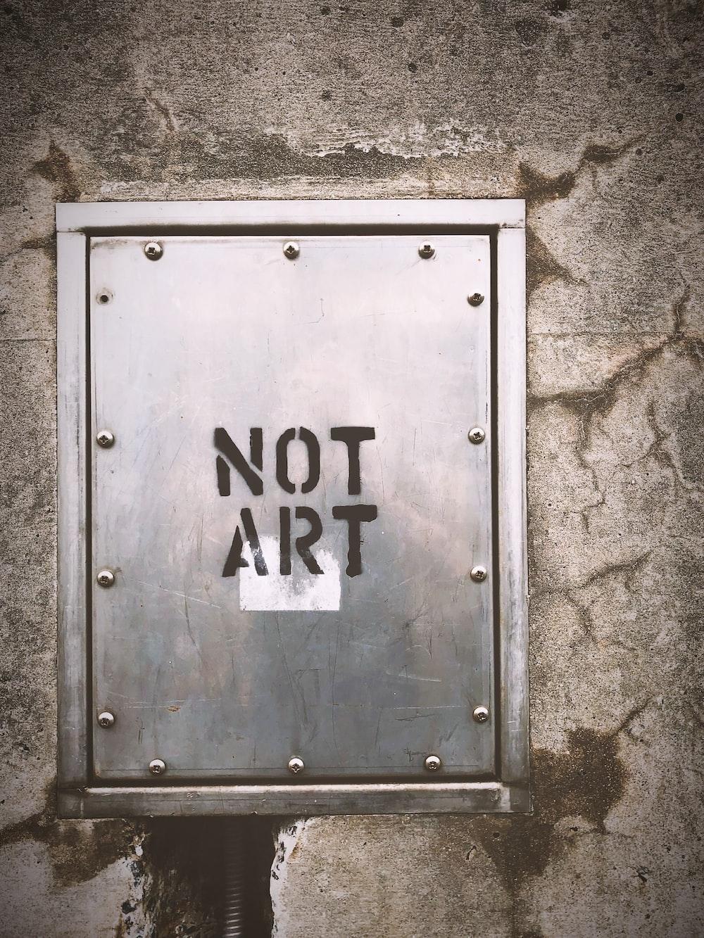 grey Not Art panel board