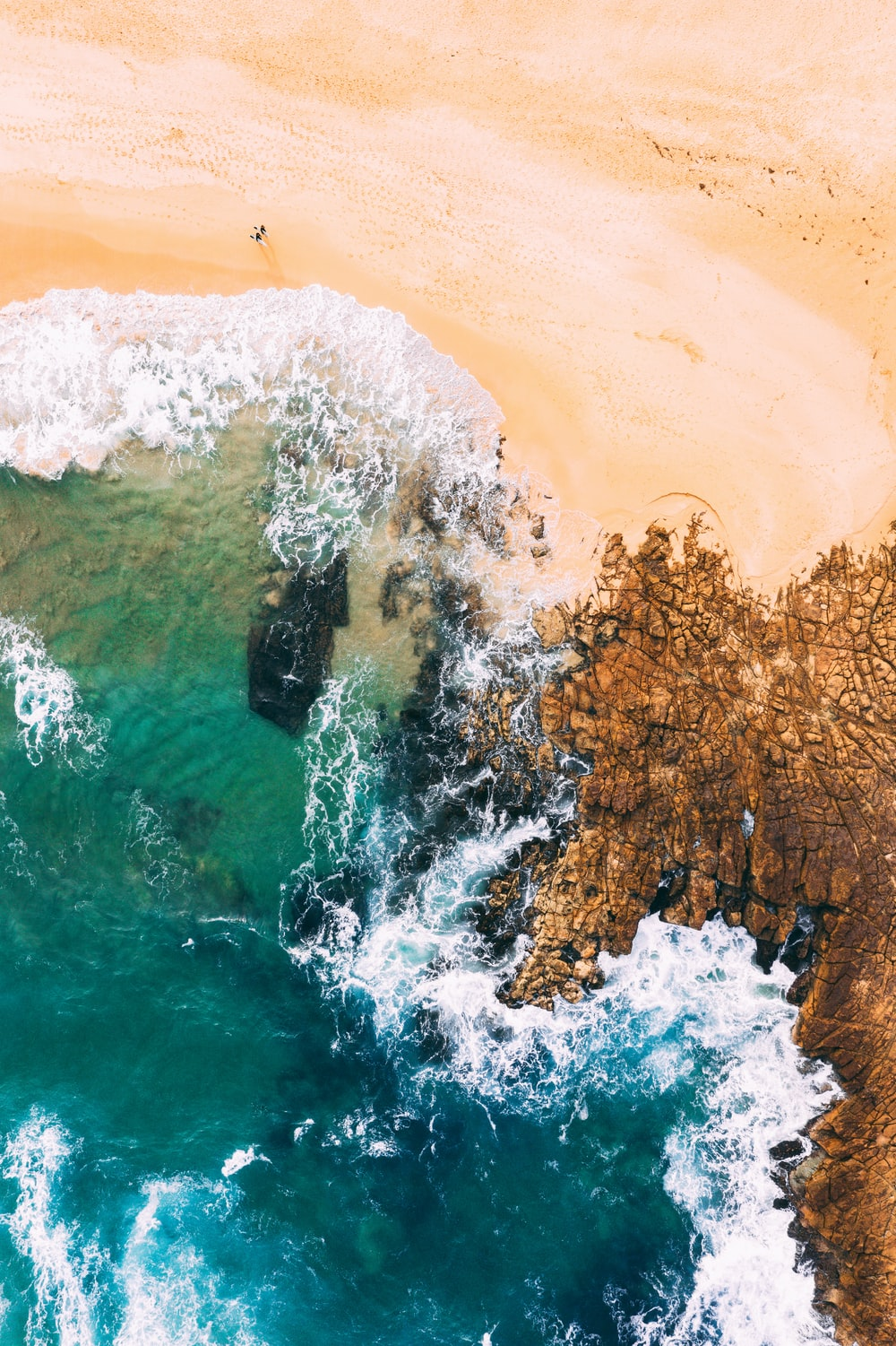 aerial photography of green sea