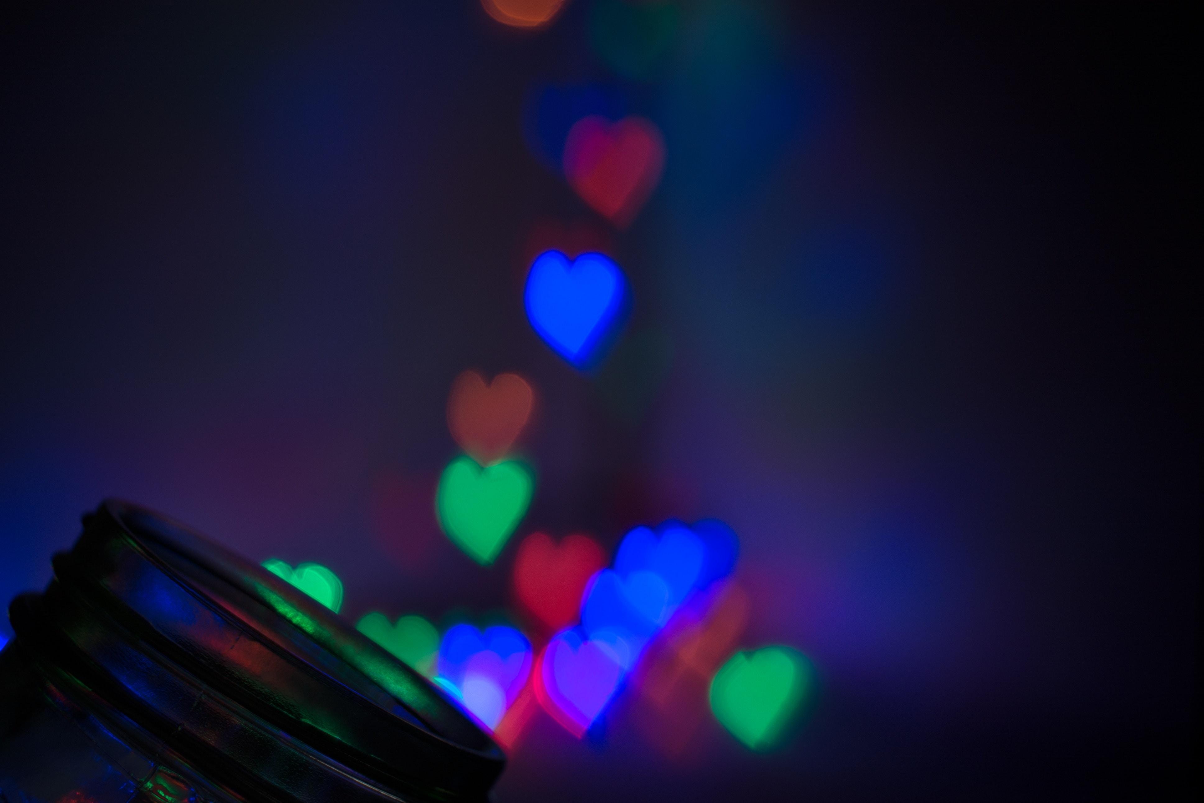 heart-shaped bokeh photography