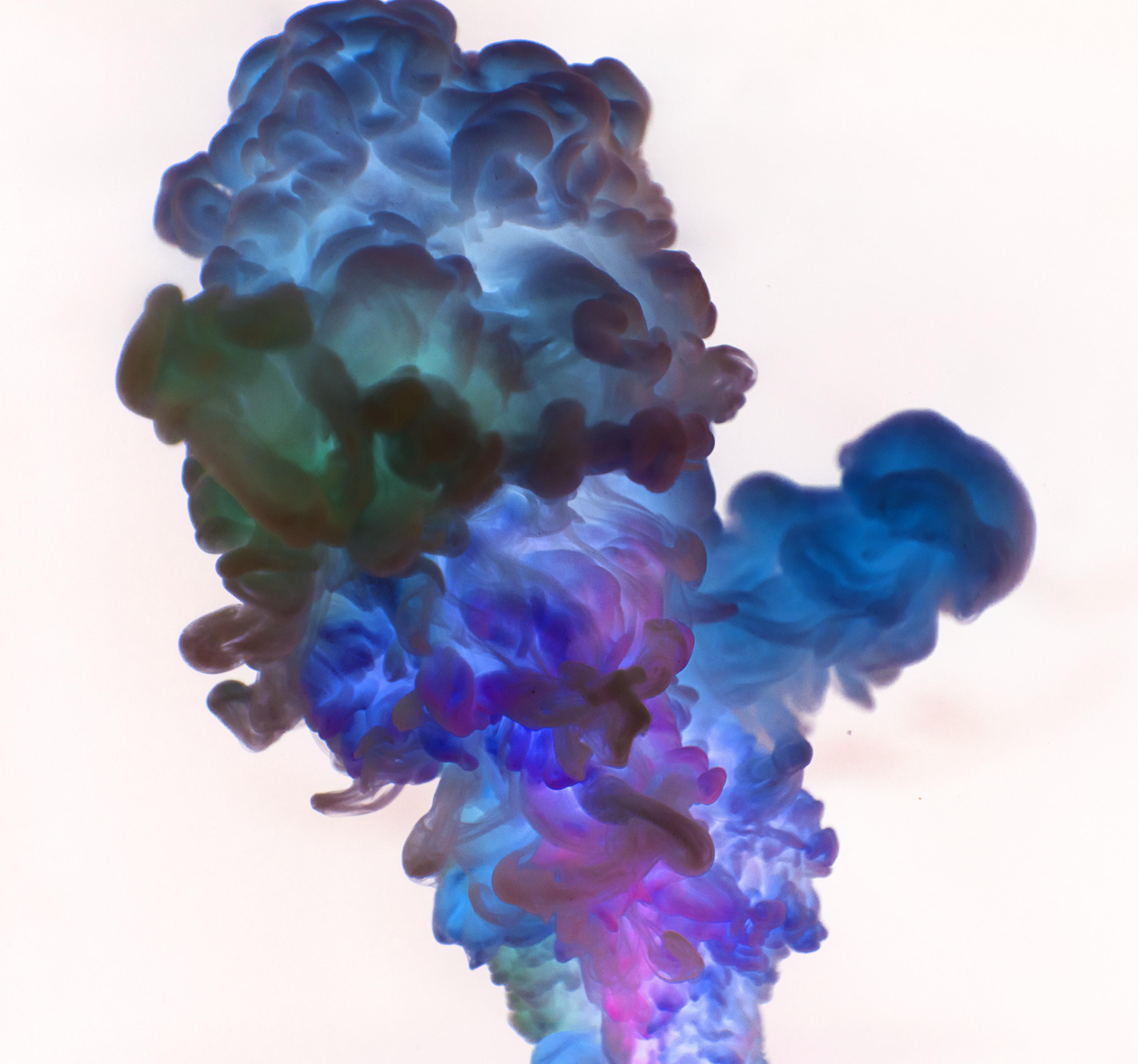blue and purple smoke wallpaper
