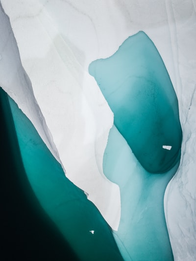 white cloth with teal stain
