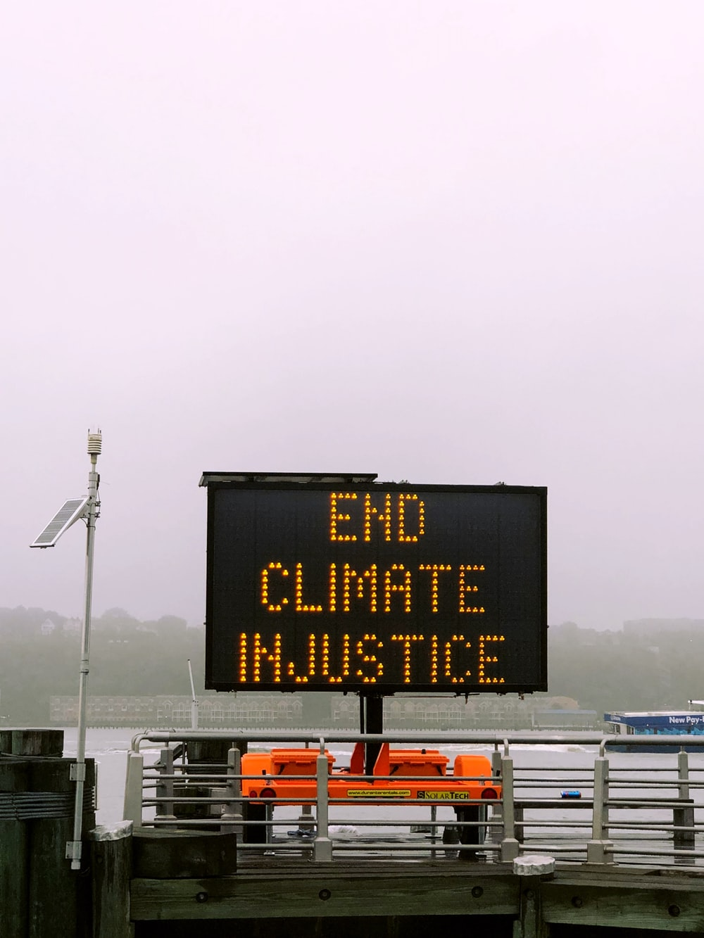 End Climate Injustice on LED screen