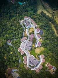 birds eye view of village