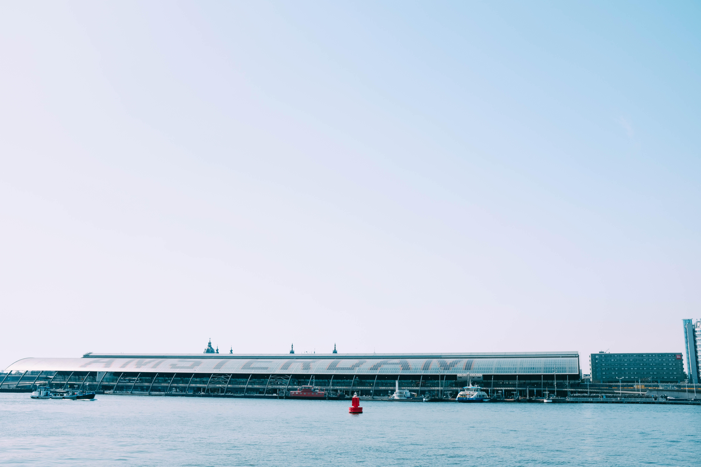 gray dock at daytime