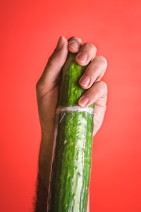 green vegetable on hand