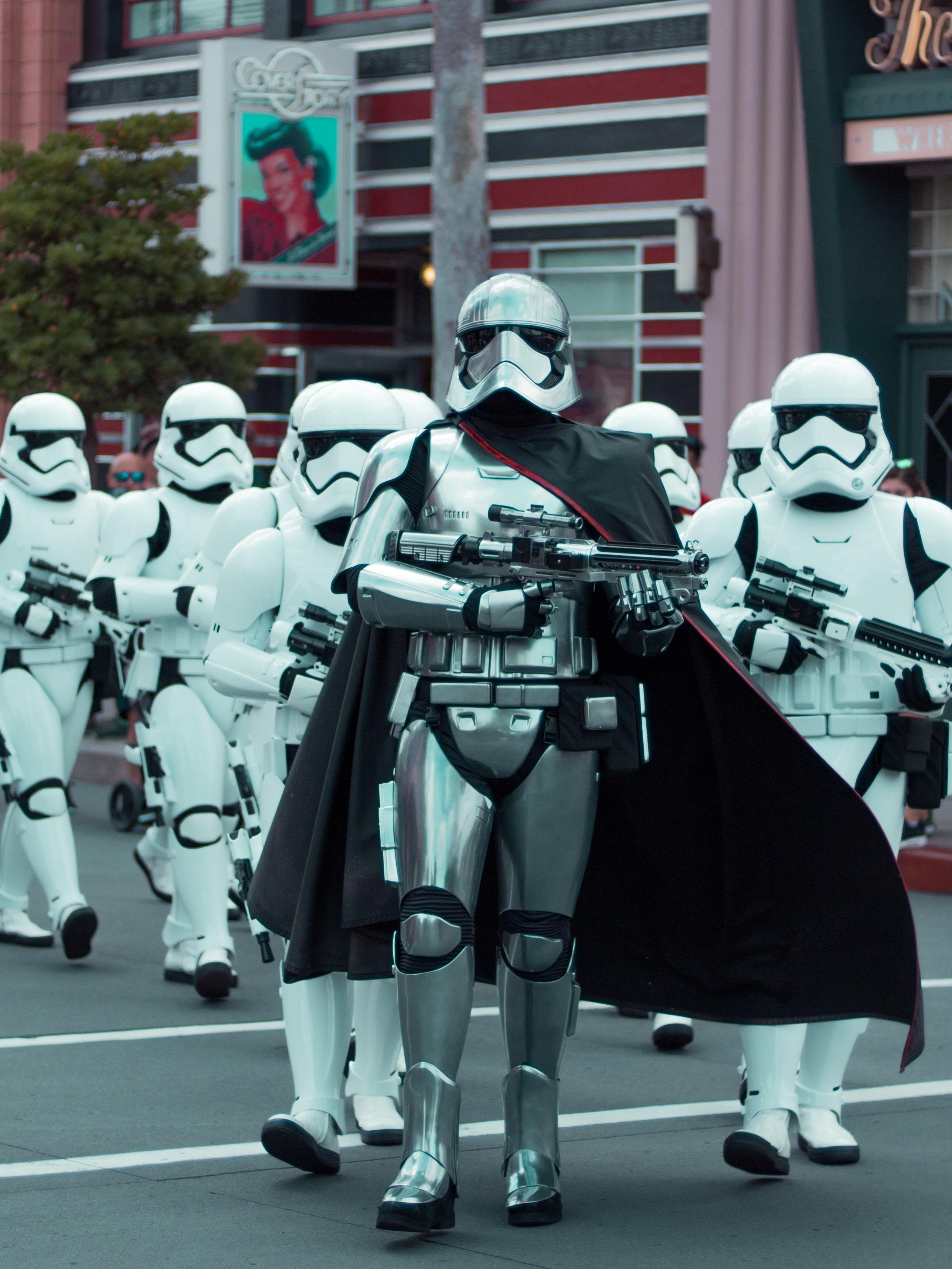 Star Wars Stormtroopers walking at daytime