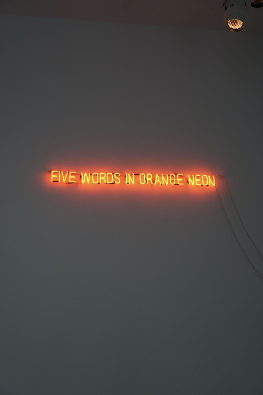 orange neon LED signage
