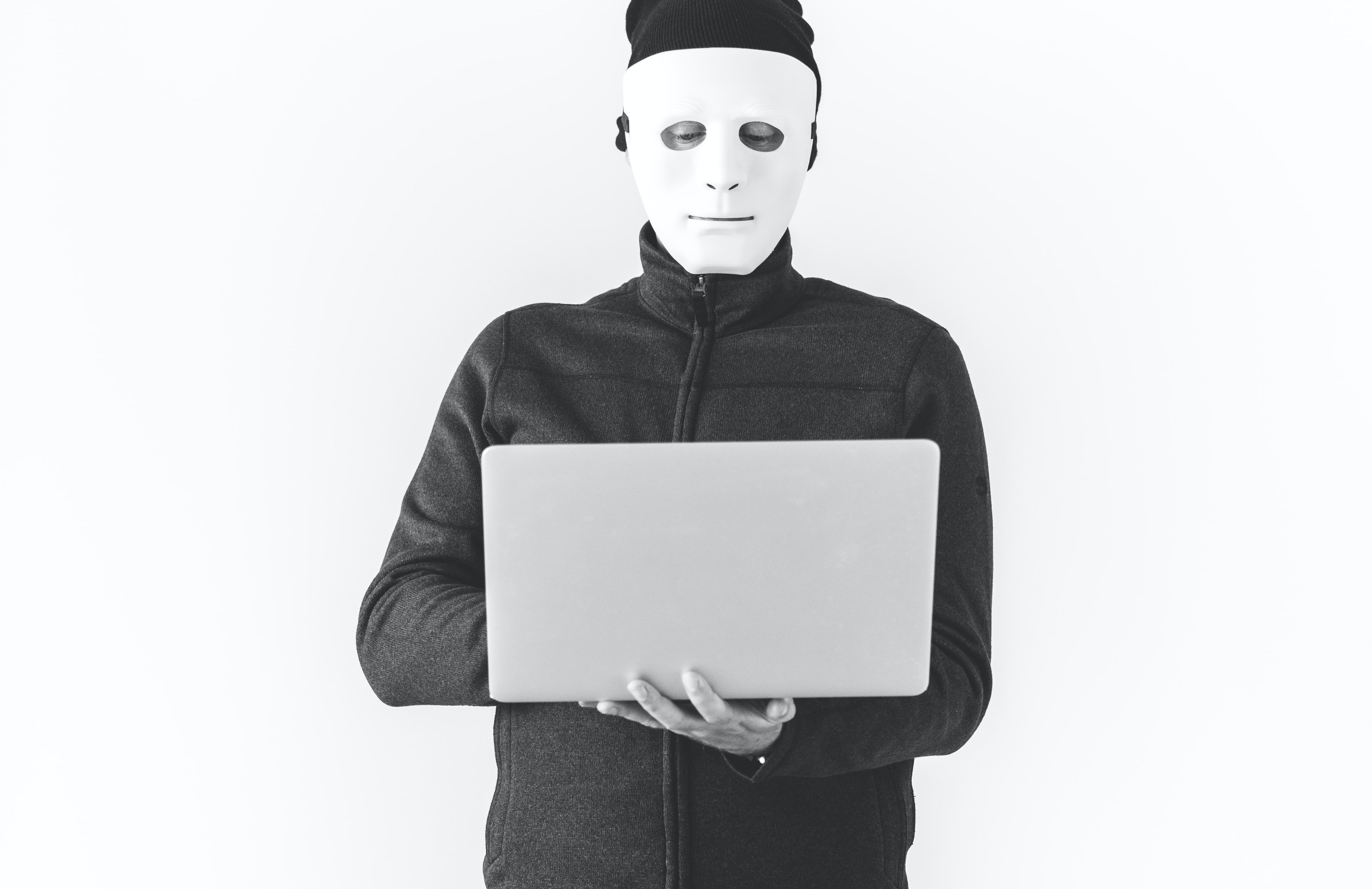 person holding laptop computer