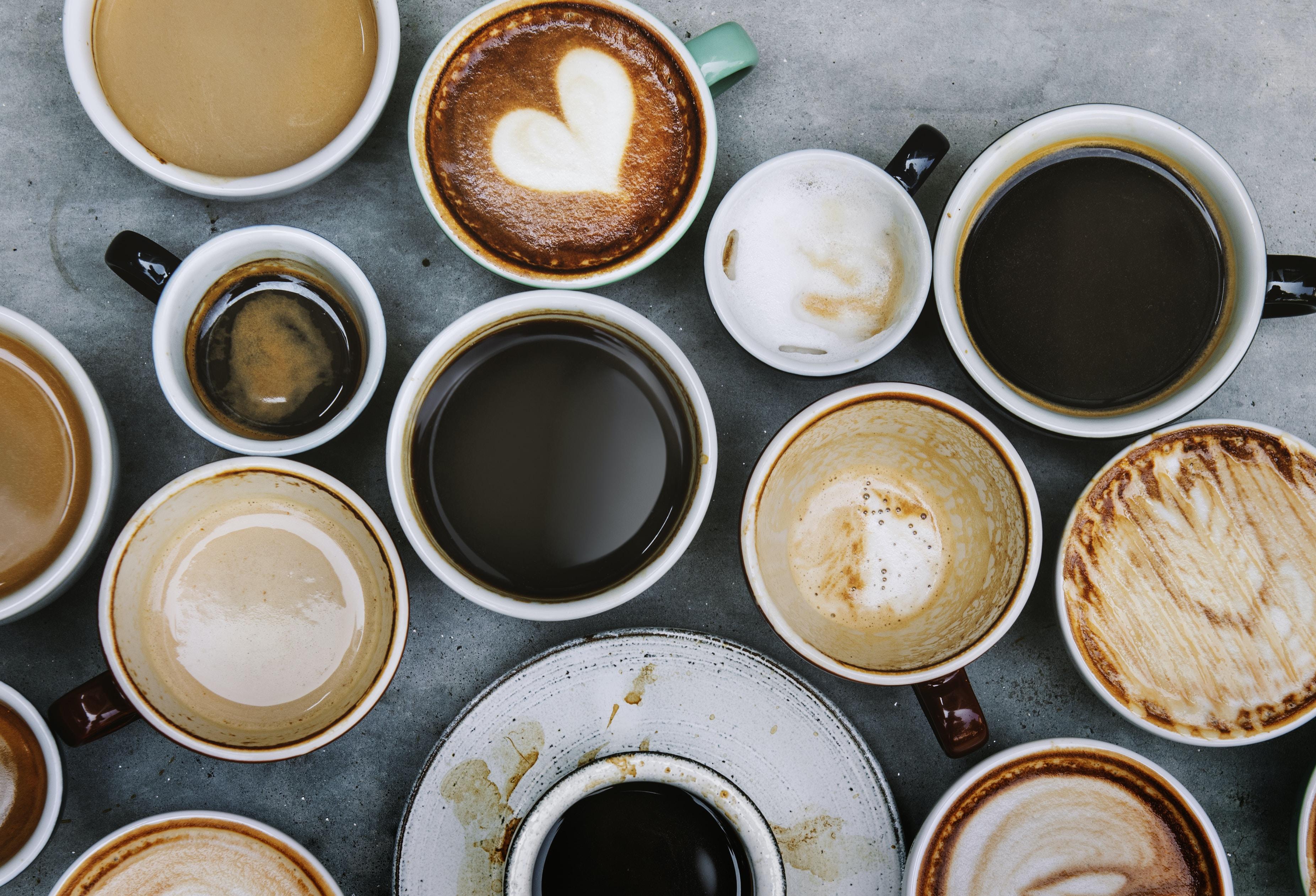 assorted coffee mugs