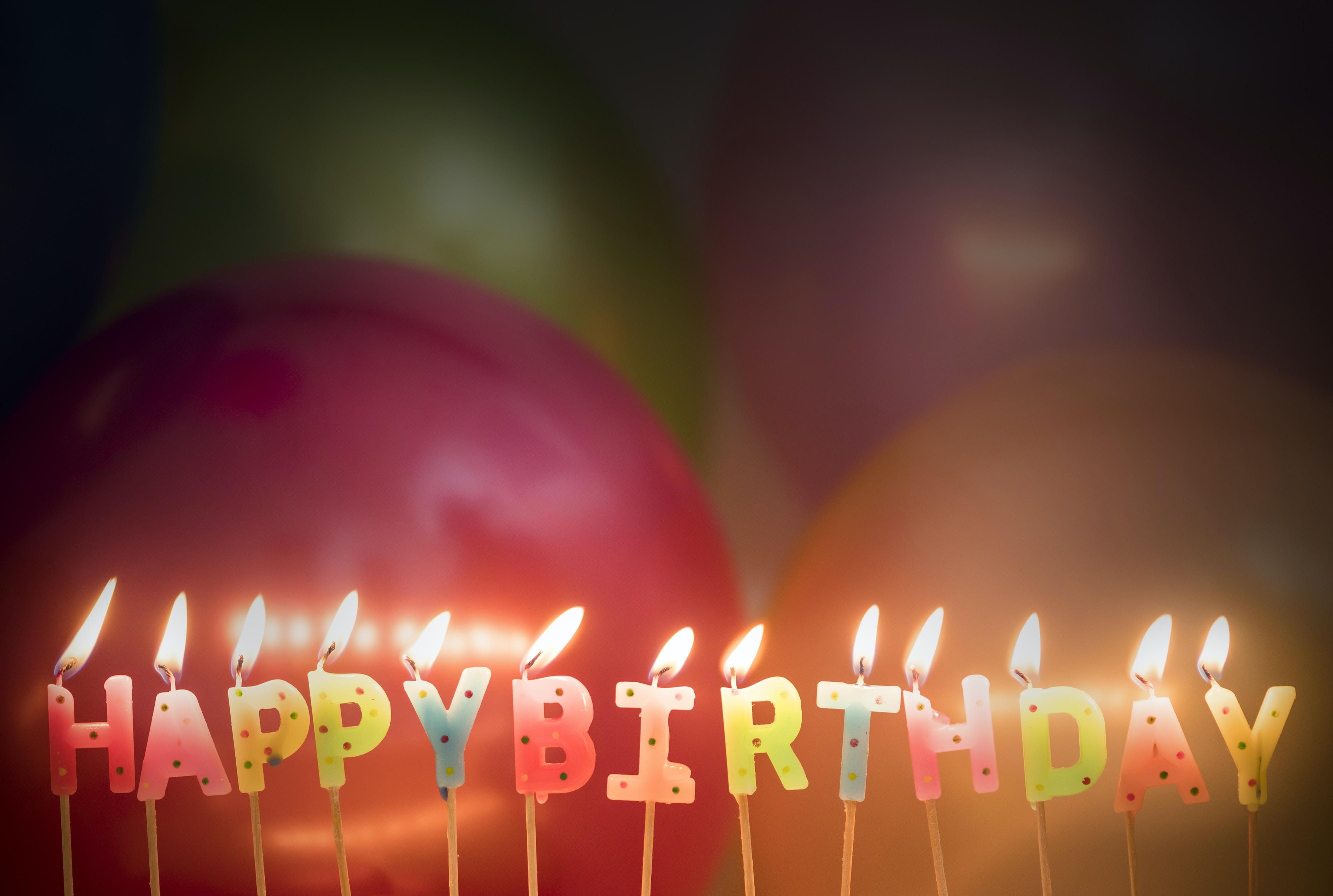 happy birthday signage