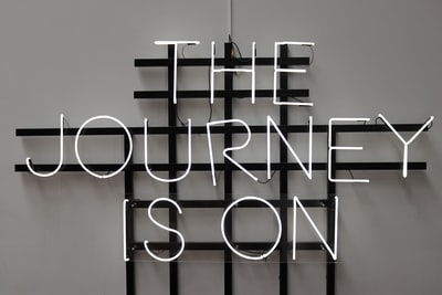 the journey is on led signage journey teams background