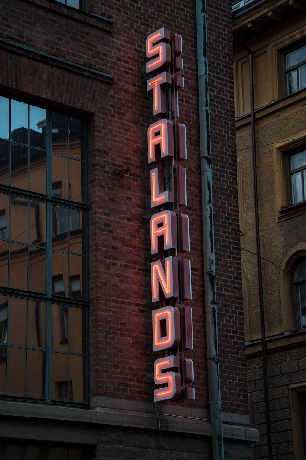 Stalands LED signage