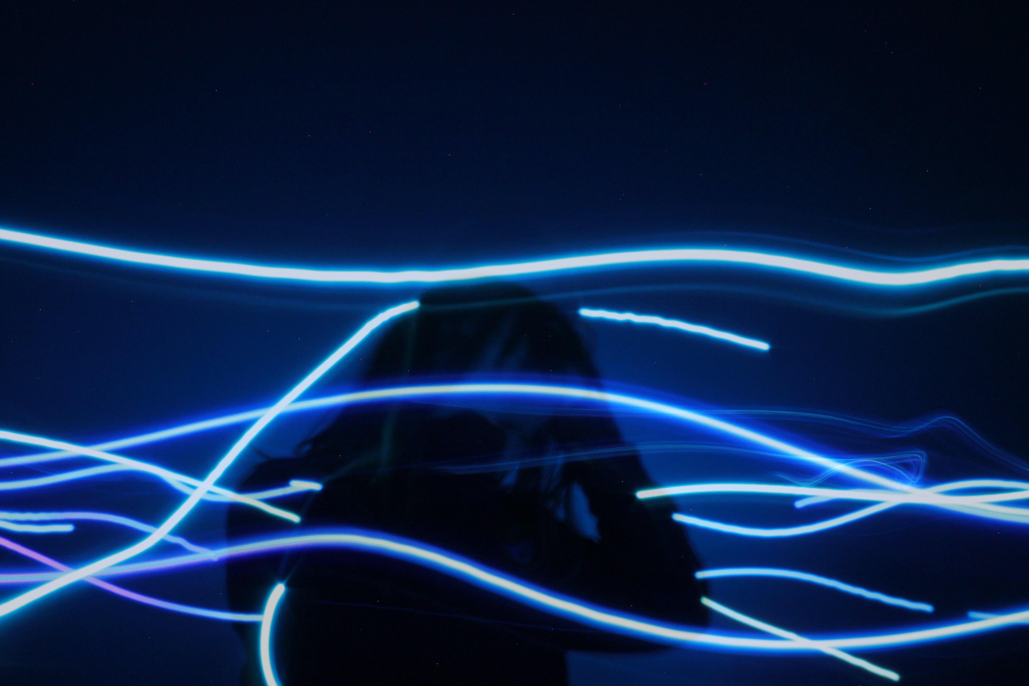 pre-lit blue string light