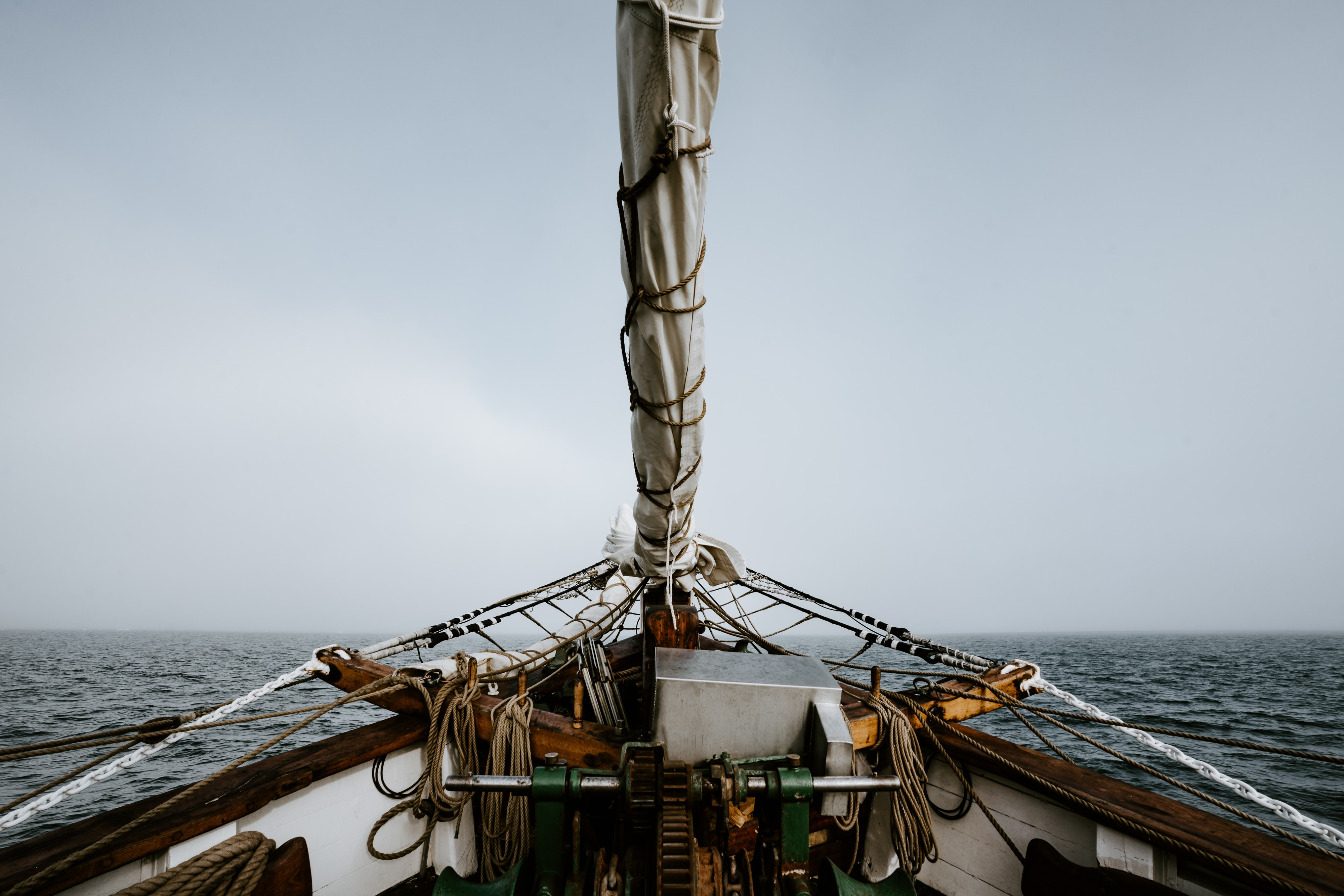 view of sea from a fishing vessel