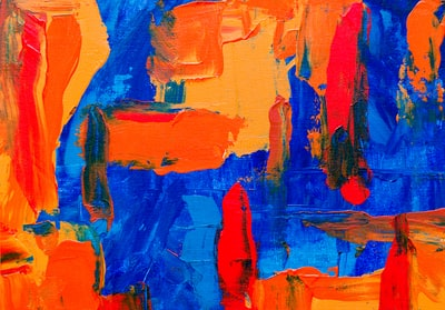 blue and orange abstract canvas painting paint zoom background