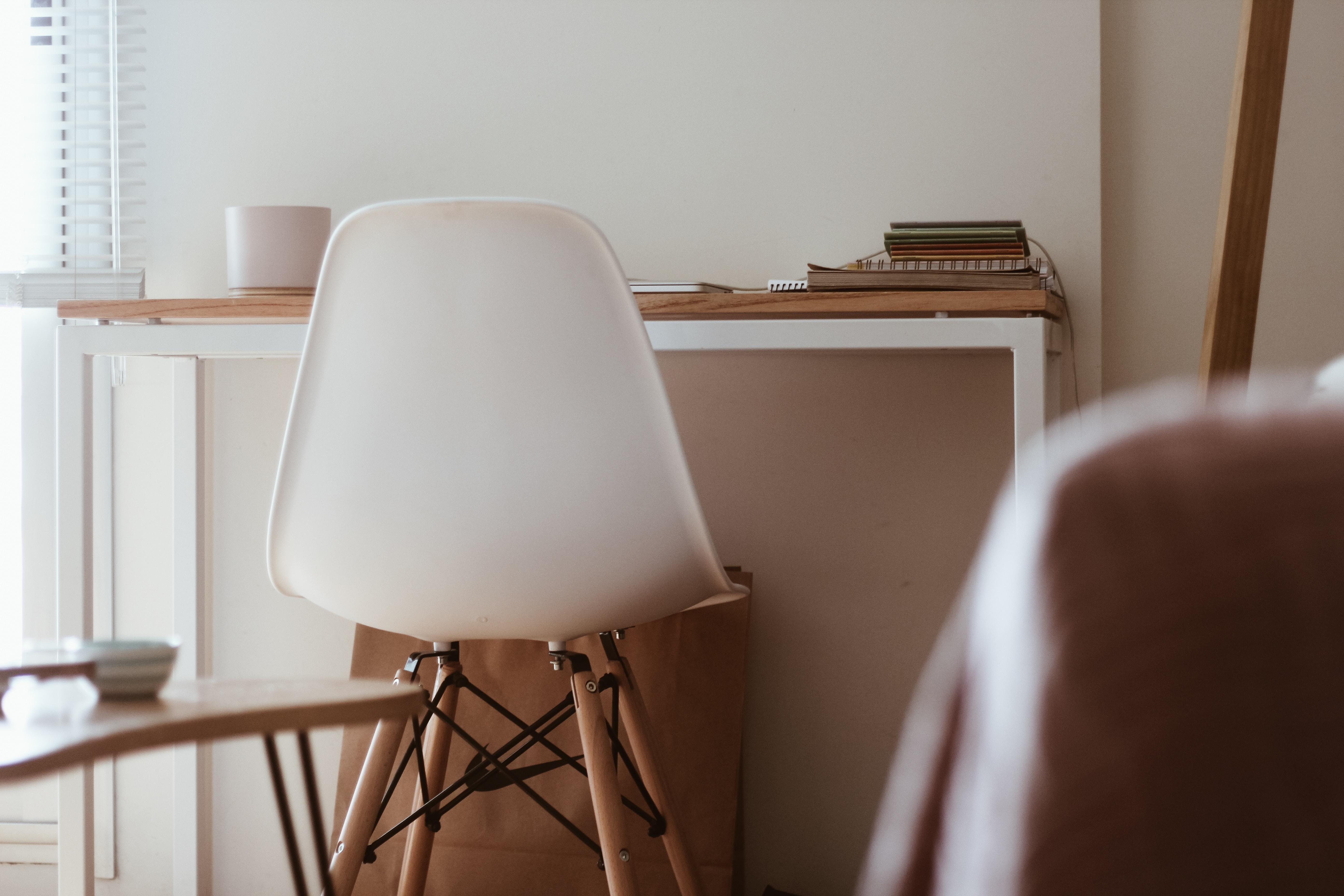 empty white chair