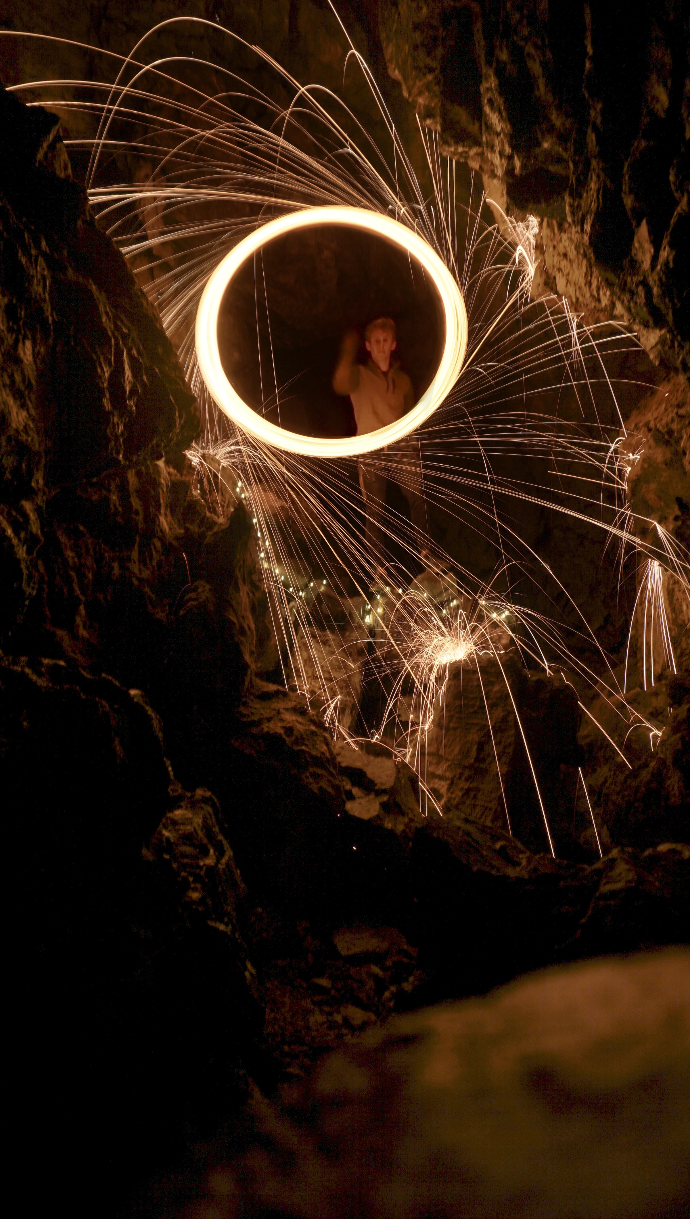 steel-wool photography of person